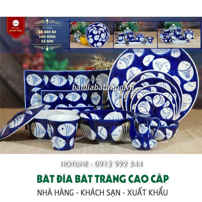 Bát đĩa Bát Tràng giá rẻ cho quán ăn Việt - chén dĩa giá sỉ