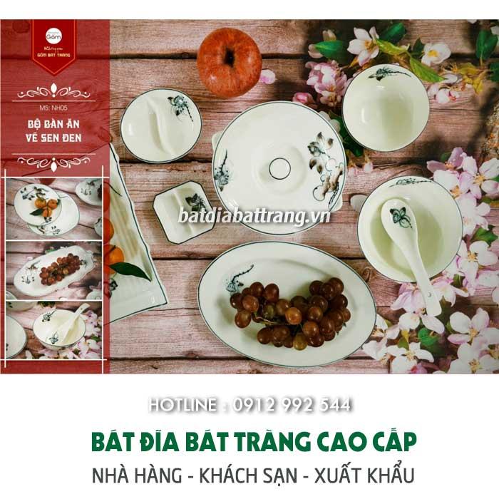 Xưởng sản Đặt sản xuất bộ đồ ăn gốm sứ cao cấp cho nhà hàng giá tốtbát đĩa Bát Tràng xuất khẩu – Cung cấp chén dĩa