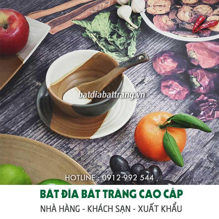 Xưởng sản xuất bộ đồ ăn gốm sứ Bát Tràng cao cấp giá sỉ tốt