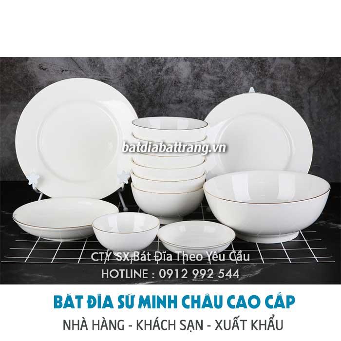 Bán buôn tô chén dĩa nhà hàng – bát đĩa sứ trắng, màu tại Hải Phòng