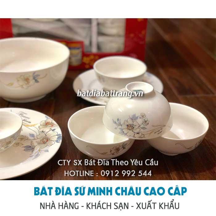 Kho cung cấp bộ bát đĩa Minh Châu đẹp - bát đĩa nhà hàng giá sỉ