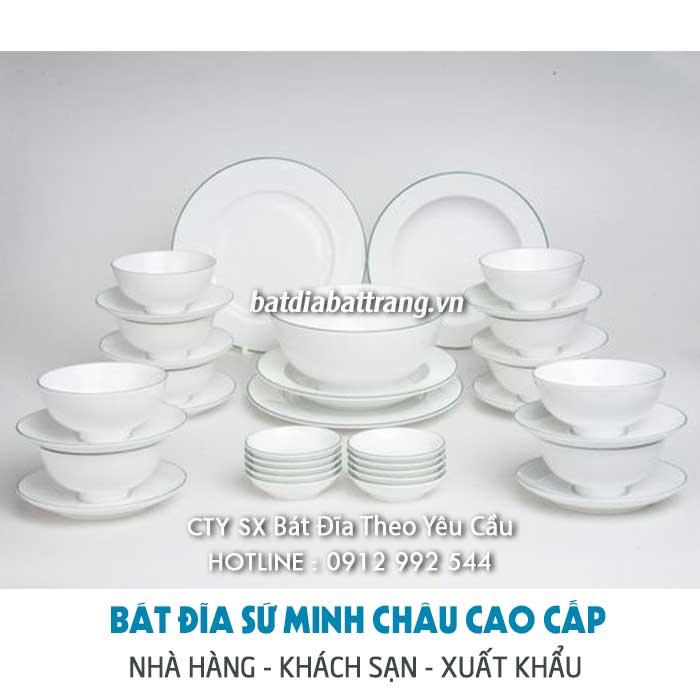 Địa chỉ công ty sản xuất bát đĩa nhà hàng - Bộ tô chén sứ