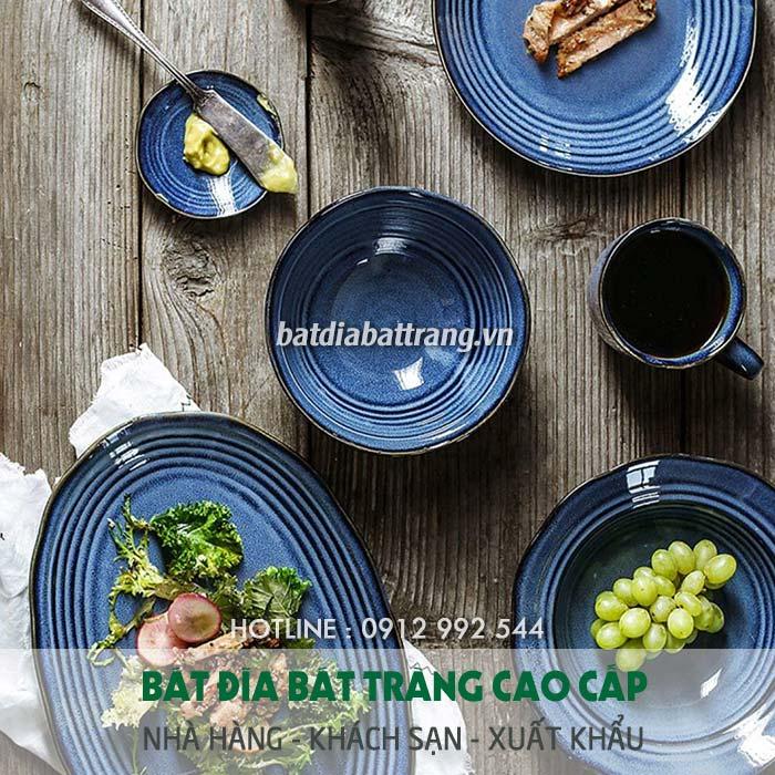 Bát đĩa , bộ bàn ăn bát tràng cao cấp dành cho nhà hàng khách sạn