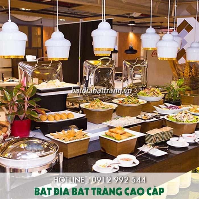 Cách set up bát đĩa nhà hàng buffet chuyên nghiệp nhất