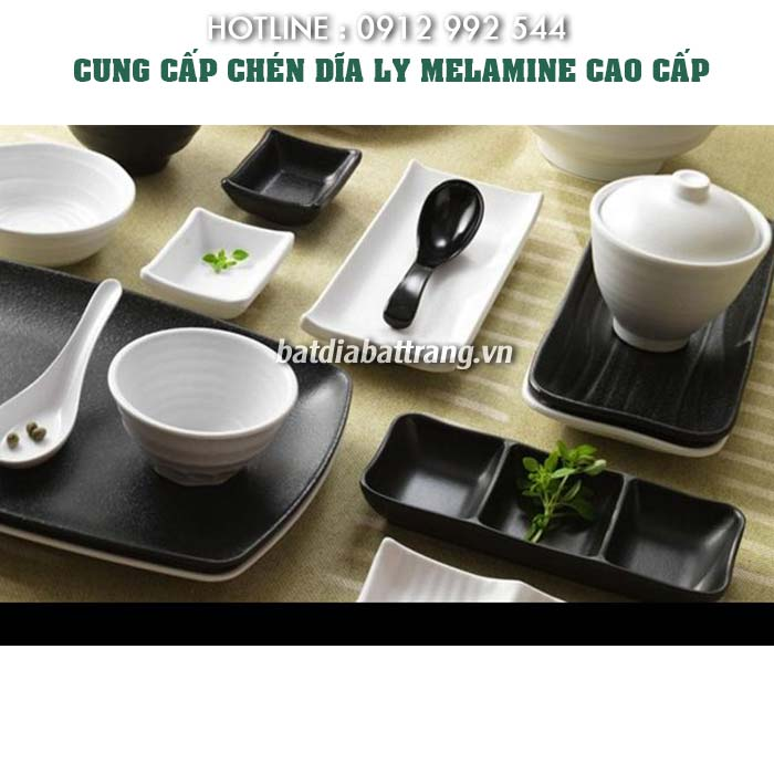 Bát đĩa nhà hàng melamine, tô chén dĩa melamine cao cấp được sử dụng rộng rãi