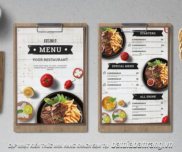 Menu là gì? Bí quyết thiết kế menu hiệu quả và hấp dẫn nhất