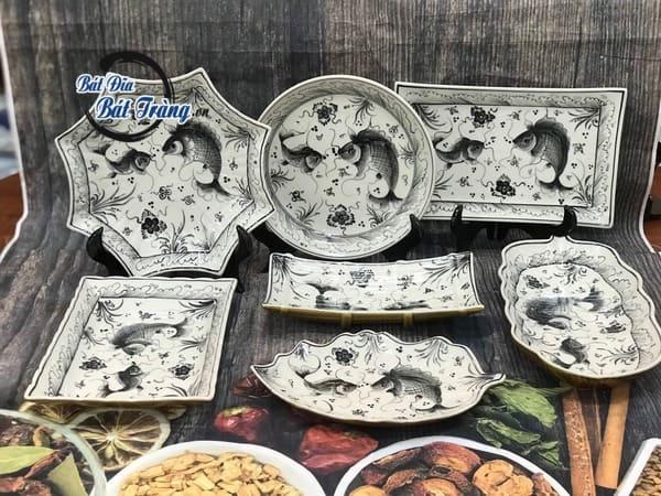 Các mẫu bát đĩa gốm sứ tráng men đẹp được khách hàng ưa chuộng