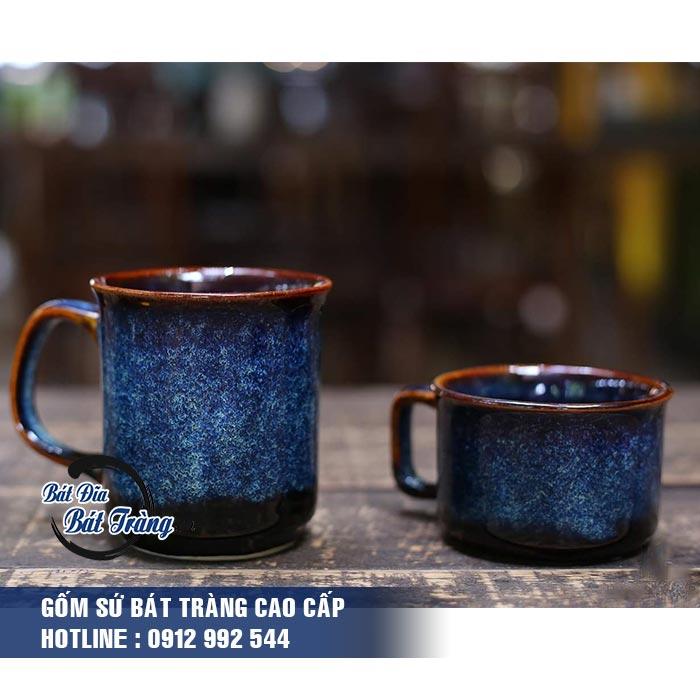 Ly tách gốm sứ men đá xanh có quai. LY TÁCH GỐM SỨ MEN ĐÁ XANH CÓ QUAI LY CỐC TÁCH GỐM SỨ BÁT TRÀNG CAO CẤP - LY SỨ CAFE, LY SỨ IN LOGO