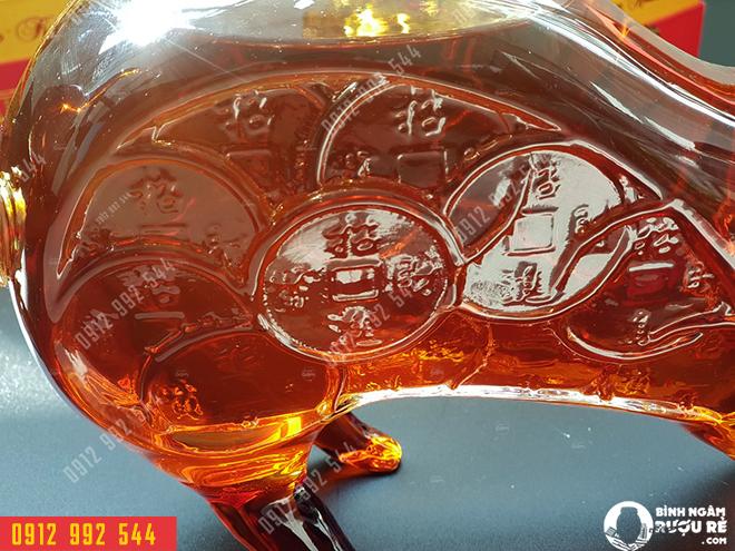 Rượu chuột thủy tinh cao cấp: 1.200.000đ/con, Bình rượu con chuột của Nga – Bình rượu của thâm tình