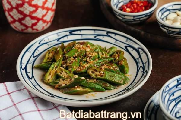 Bát đĩa cá xanh cho món ăn thuần Việt