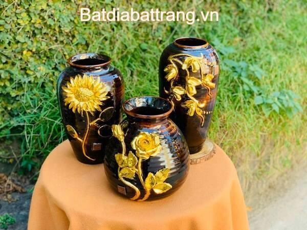 Mẫu bình hoa gốm sứ nghệ thuật