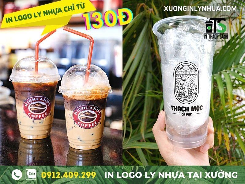 Ly nhựa trà sữa - nên in logo trực tiếp hay sử dụng decal dán?