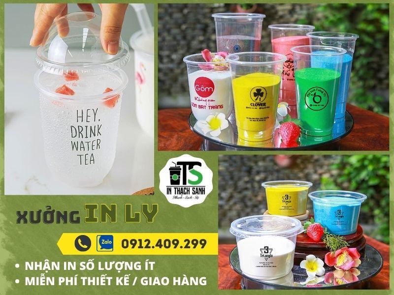 Mẫu ly nhựa nhỏ đẹp cho quán cafe, in ly nhựa theo yêu cầu tại xưởng