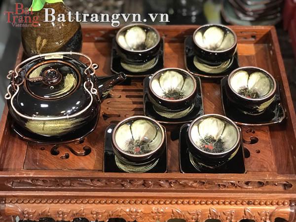 Ấm chén trà men hỏa biến