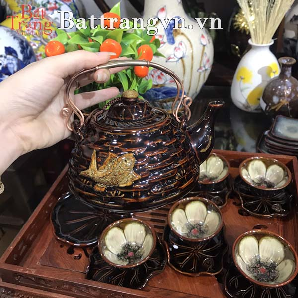 Địa chỉ cung cấp bộ ấm chén gốm sứ giá rẻ quận Tân Bình